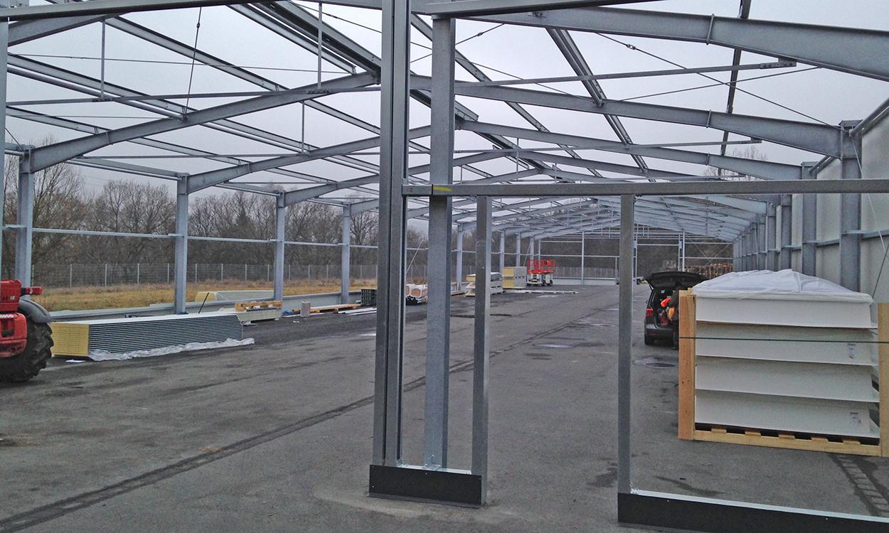 Neubau einer Fertigwarenhalle